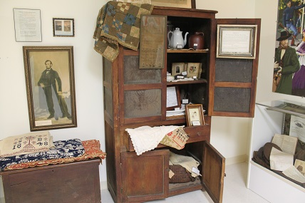 Civil War Display in the Timeline Room